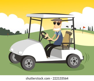 Golf Cart Cartoon Images Stock Photos Vectors Shutterstock
