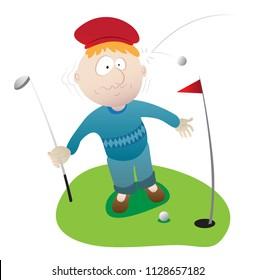golfer play on the golf area
