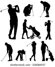 golfer silhouettes collection