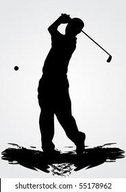Golfer, vector illustration