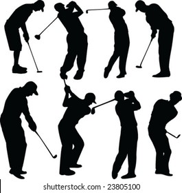 golfers collection - vector