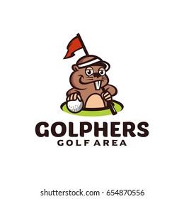 Golphers mascot golf