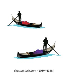 gondola boat vector