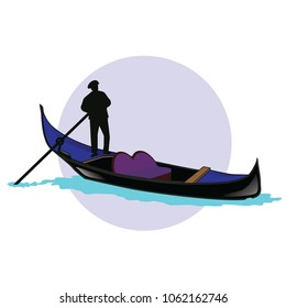 gondola vector sea