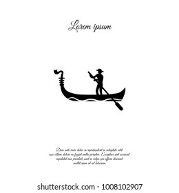 Gondolier vector icon