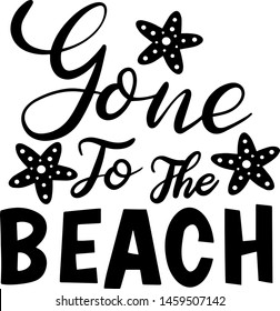 Gone to the beach decoration for T-shirt