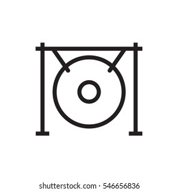 gong icon illustration isolated vector sign symbol