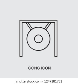 gong icon. line gong icon from music collection. Use for web, mobile, infographics and UI/UX elements. Trendy gong icon.