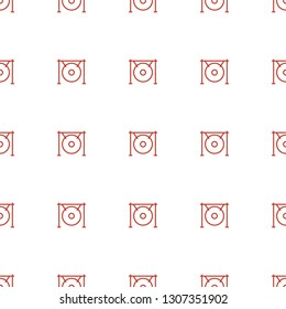 gong icon pattern seamless white background. Editable outline gong icon. gong icon pattern for web and mobile.