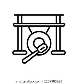 Gong icon vector isolated on white background, Gong transparent sign