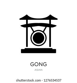 gong icon vector on white background, gong trendy filled icons from Asian collection, gong vector illustration