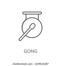 Gong linear icon. Modern outline Gong logo concept on white background from Music collection. Suitable for use on web apps, mobile apps and print media.