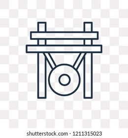 Gong vector outline icon isolated on transparent background, high quality linear Gong transparency concept can be used web and mobile