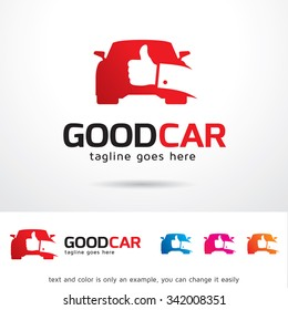 Good Car Logo Template Design Vector