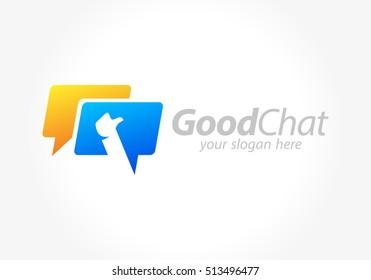 Good Chat logo design