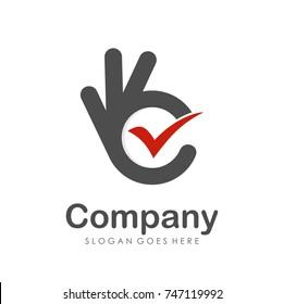 Good check logo design template