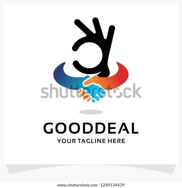 Good Deal Logo Design Template Inspiration Stock Vector Royalty Free 1289134429