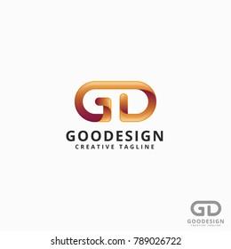 Good Design - Modern Stylish Letter G D Logo