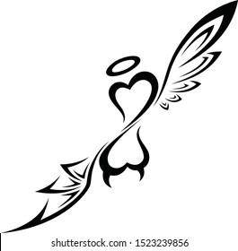 Good and Evil Heart Tribal Tattoo