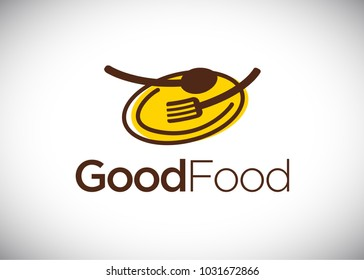 Good Food logo design template