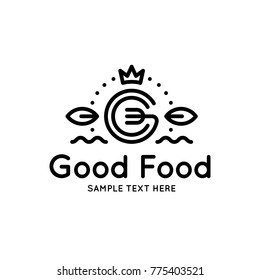 Catering logo images stock photos vectors shutterstock good food logo design template vector letter g logotype illustration with crown and leafs spiritdancerdesigns Gallery