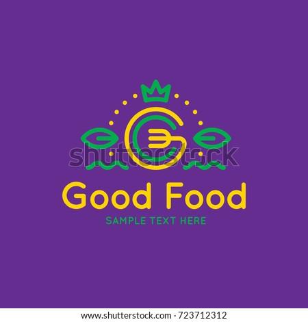 good food logo design template vector stock vector royalty free