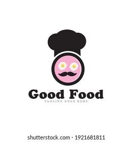 Good food logo icon vector template.