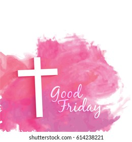 Good Friday illustration or vector graphics with jesus cross.