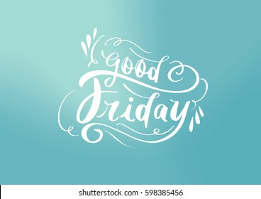 Good Friday lettering poster with background