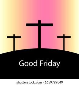 Good Friday with three crosses