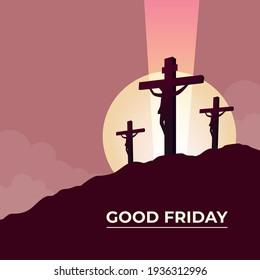Good Friday Three crosses symbol