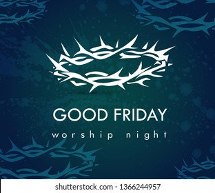 Good Friday vector illustration for christian religious occasion