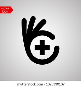Good health logo template design vector. Cool health icon in trendy flat style on white background.