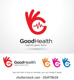 Good Health Logo Template Design Vector