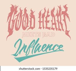 Good Heart typographic print design