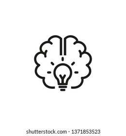Good idea line icon. Brain, power, energy. Brainstorming concept. Vector illustration can be used for topics like science, development, research