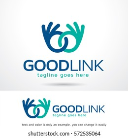 Good Link Logo Template Design Vector