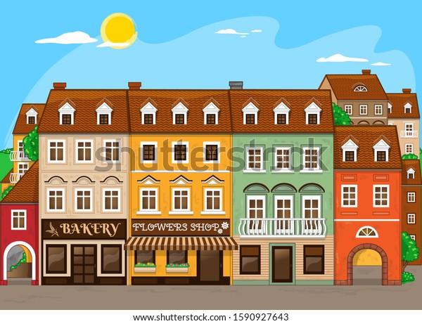 Good little town. Vector Illustration