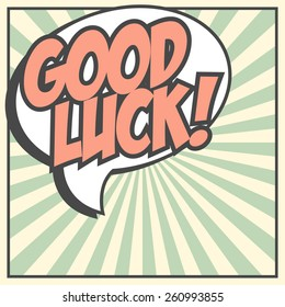 good luck background, illustration in vector format