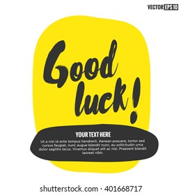 Good Luck Brush Lettering Design Template
