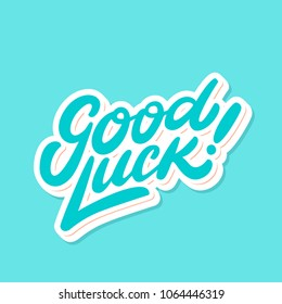 Good luck. Farewell card. Vector lettering.