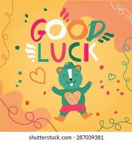 Good luck script card