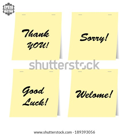 Good luck thank you welcome sorry stock vector royalty free good luck thank you welcome and sorry the words for greeting vector m4hsunfo