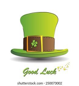 good luck wish irish hat