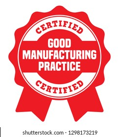 Good Manufacturing Practice. GMP Certified Rubber Stamp.
