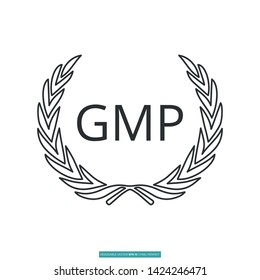 Good Manufacturing Practice (GMP) Icon Vector Illustration Logo Template