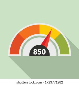 Good meter scale icon. Flat illustration of good meter scale vector icon for web design