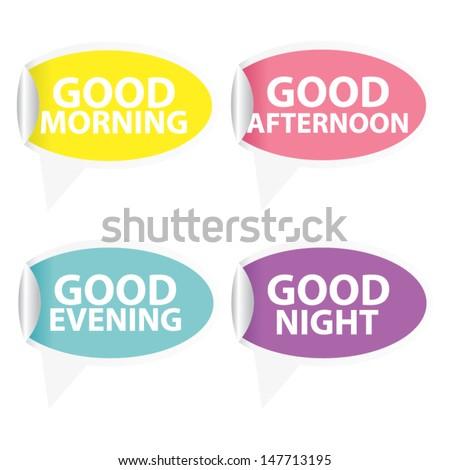 good morning sticker