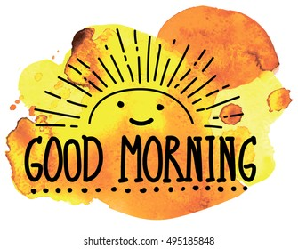 Good Morning Children Stock Illustrations, Images & Vectors ...