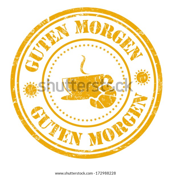 Good Morning German Language Guten Morgen Stock Vector